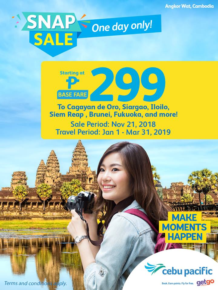 Cebu Pacific Snap Sale - Juan Day Sale