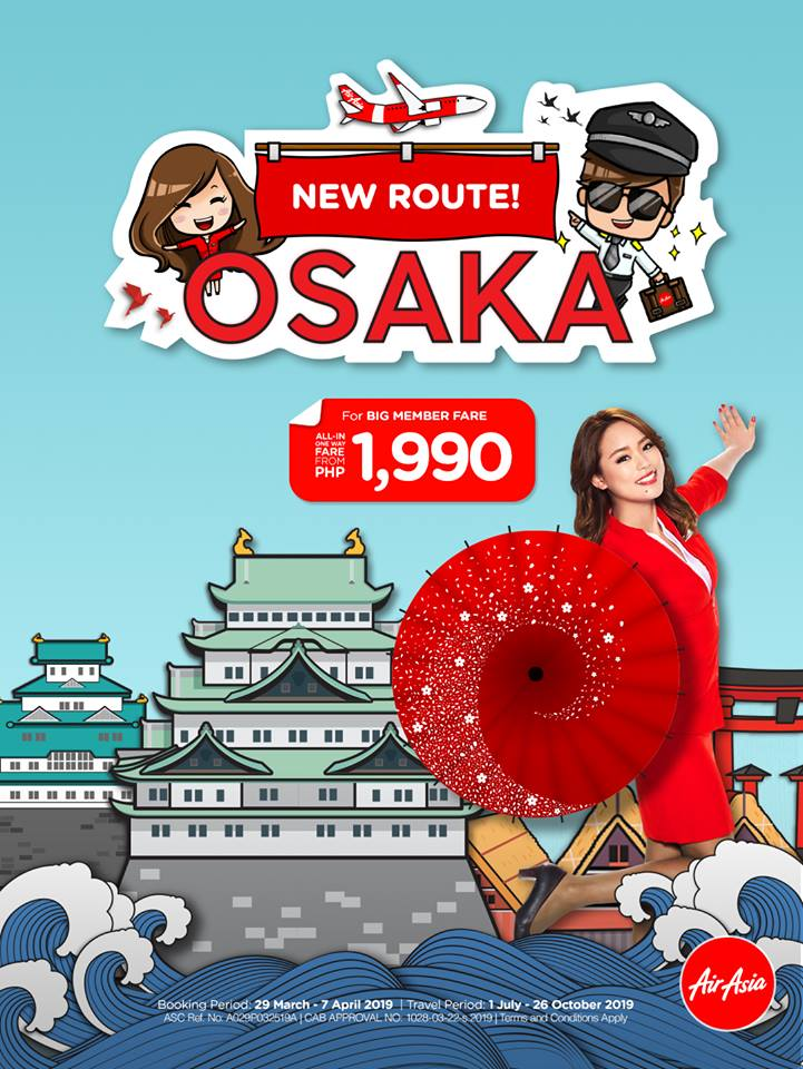 AirAsia New Route Manila to Osaka