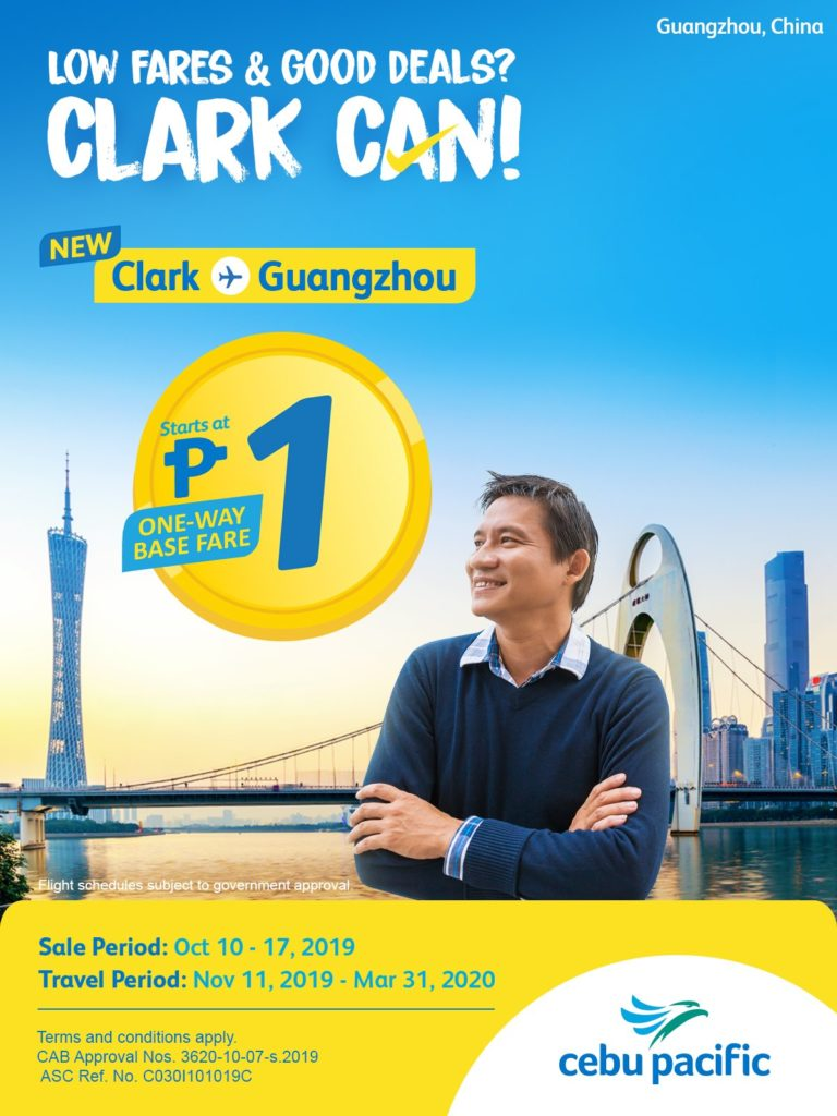 Cebu Pacific Promo Clark to Guangzhou