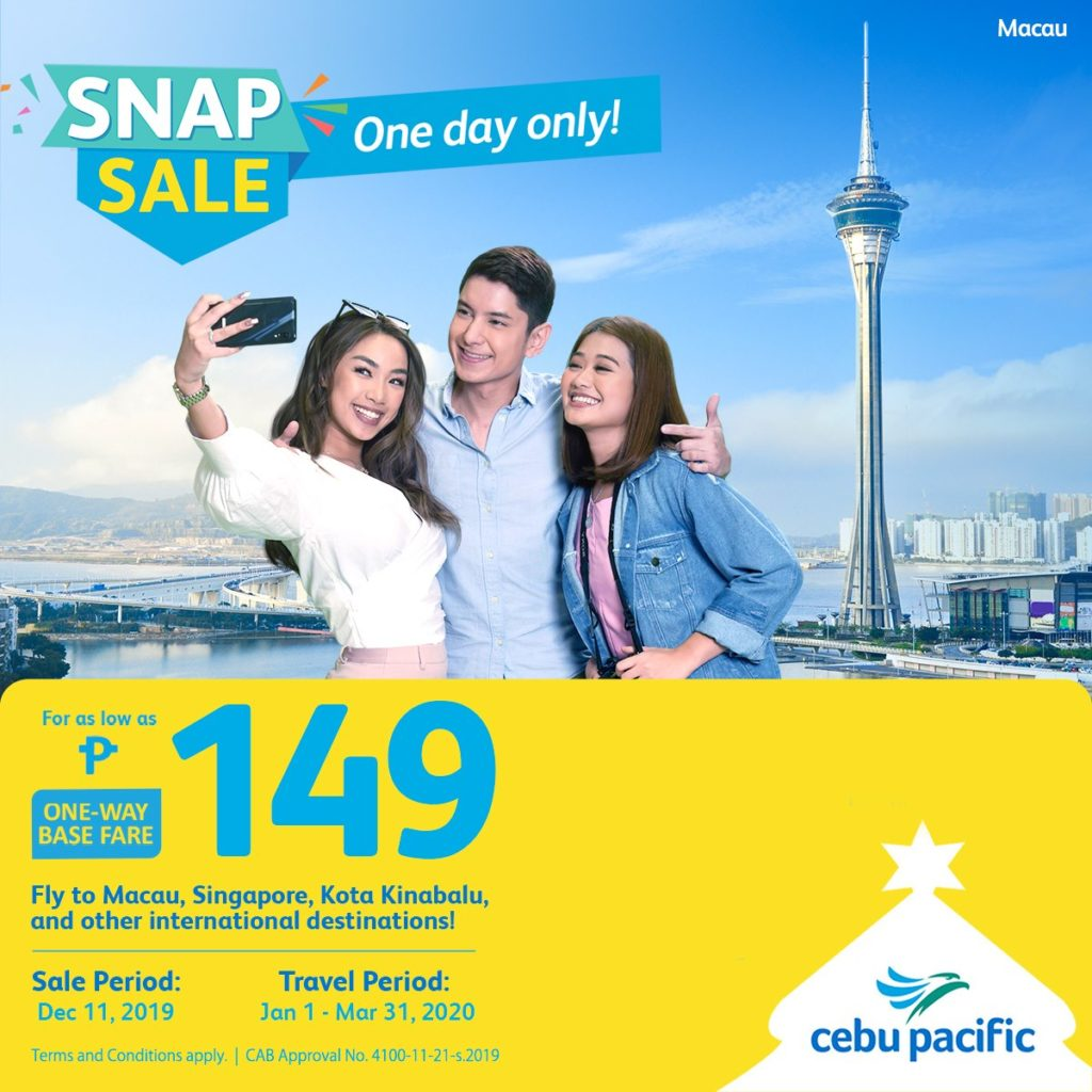 Cebu Pacific Snap Sale